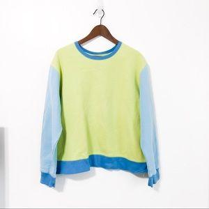 Vintage Neon Colorblick Crewneck Sweatshirt